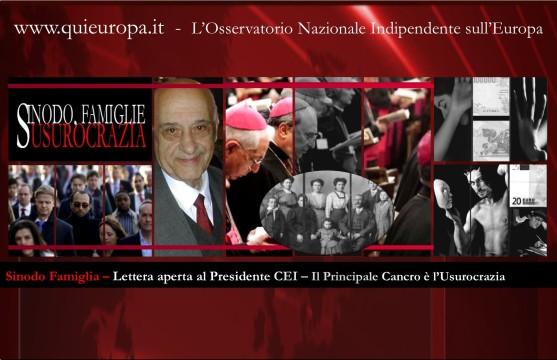 Lettera aperta al Presidente CEI - Sinodo Famiglia