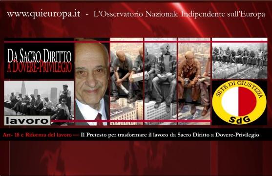 sete di giustizia - lavoro e articolo 18 - Renzi