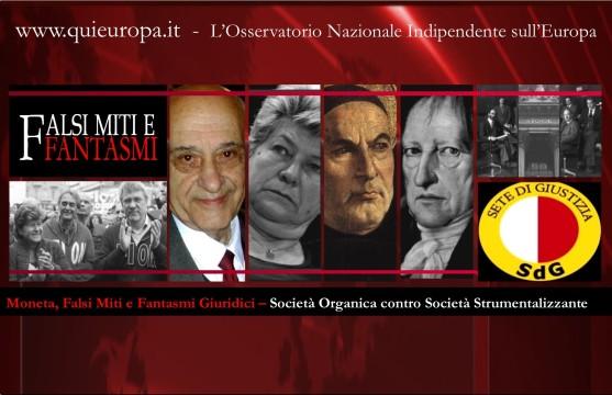 Giacinto Auriti - Moneta, Massoneria e Società Organica