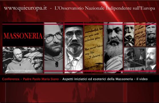 Padre Paolo Maria Siano - Aspetti iniziatici ed esoterici della Massoneria