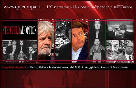 Renzi Grillo step omosex child