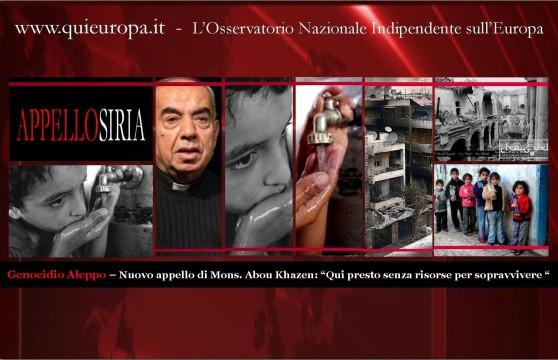 Aleppo - genocidio idrico