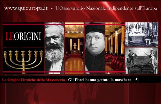 Origini Ebraiche della Massonerria - Gli ebrei hanno gettato la maschera