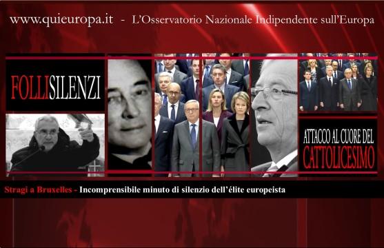 Stragi a Bruxelles - Minuto di silenzio