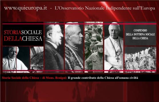 Storia Sociale della Chiesa – di Mons. Benigni