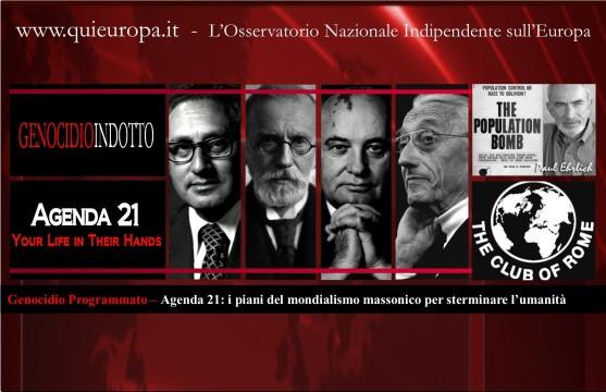 agenda 21 - mondialismo massonico