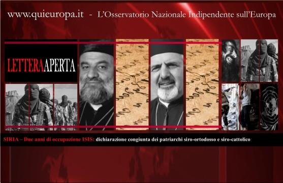 SIRIA – Due anni di occupazione ISISV - dichiarazione congiunta dei patriarchi