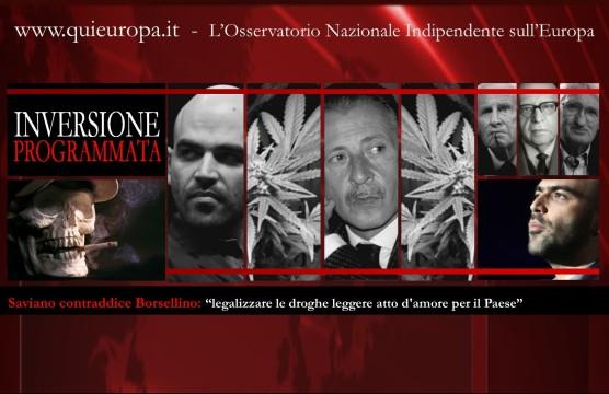 Saviano contraddice Borsellino - droghe leggere