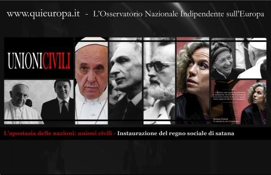 L'apostasia delle nazioni - unioni civili - regno sociale di satana
