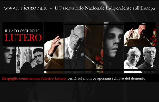 Bergoglio commemora l'eretico Lutero