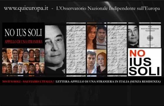 NO IUS SOLI - SALVIAMO L'ITALIA