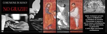 Comunione sulla mano - retaggio massonico protestante
