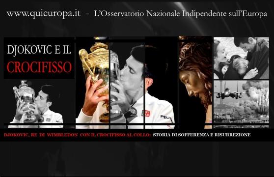 Djokovic re di Wimbledon con il crocifisso al collo