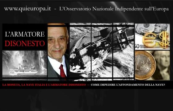 Redazione Quieuropa, Auriti, Nicola Arena, moneta-debito, Nave Italia,  armatore disonesto