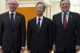 La crisi dell'Eurozona al vertice Cina-Ue