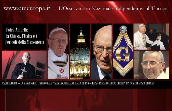 padre Amorth - Papa francesco - monti e napolitano