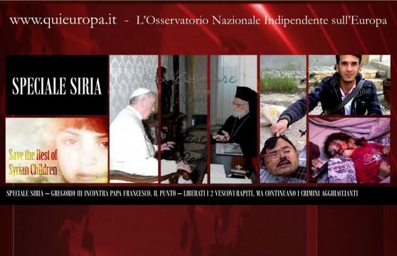 Crimes against Humanity - Syria - Papa Francesco meet Gregorious III