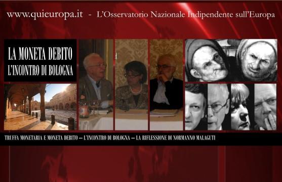 La Moneta Debito - Il Convegno del 9 Maggio 2013 a Bologna