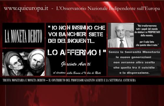 Moneta Debito e Usura Internazionale - Il Contributo del professor Giacinto Auriti