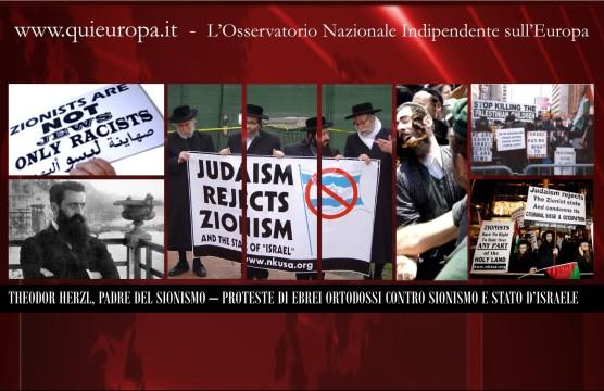 Proteste di Ebrei ortodossi contro il Sionismo e lo Stato d'Israele