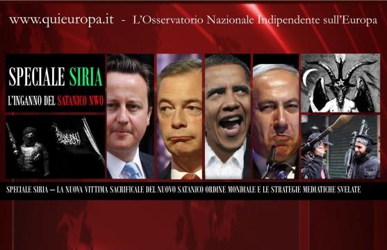 Siria e Nuovo Ordine Mondiale