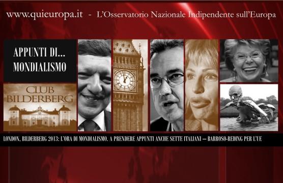7 Italiani al Bilderberg di Londra