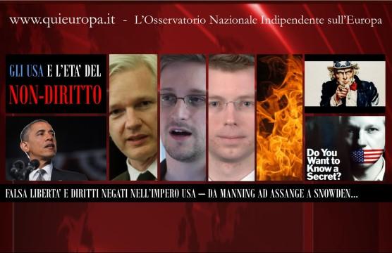 Assange, Manning, Snowden e la Democrazia in America