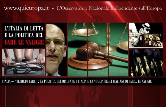 Governo Letta - Decreto FARE