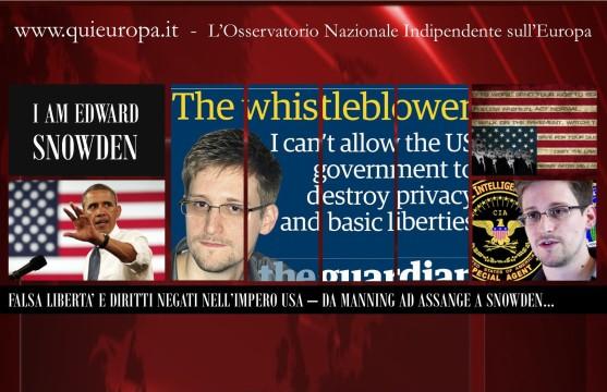 La Democrazia in America - Il Caso Edward Snowden