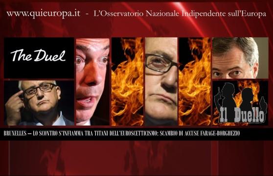 Scontro Nigel Farage - Mario Borghezio