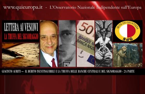Giacinto Auriti - Lettera ai vescovi - la Truffa del Signoraggio e delle Banche Centrali