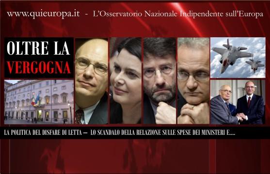 Lo Scandalo delle Spese dei Ministeri - Governo Letta