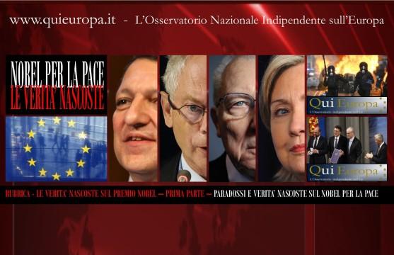 Nobel per la Pace all'Unione Europea