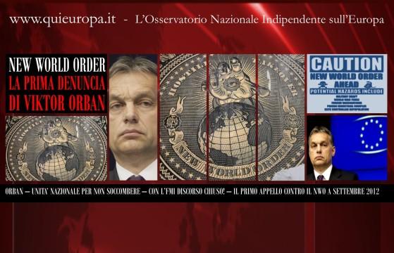 Viktor Orban - appello all'unità nazionale - NWO