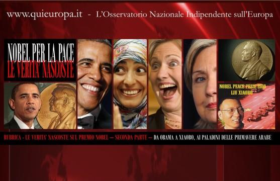 Le Verità nascoste sul premio Nobel per la Pace