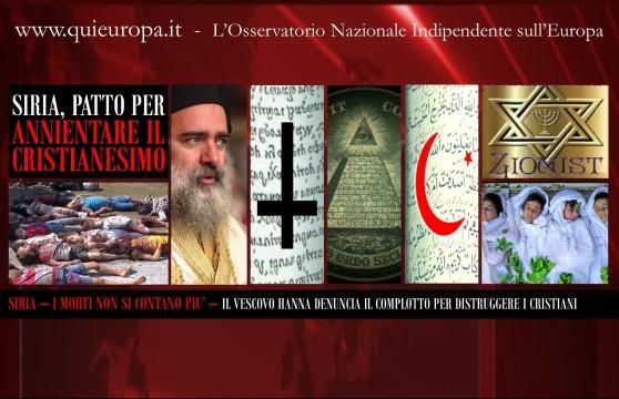 Siria - Piano per Annientare i Cristiani e il Cristianesimo