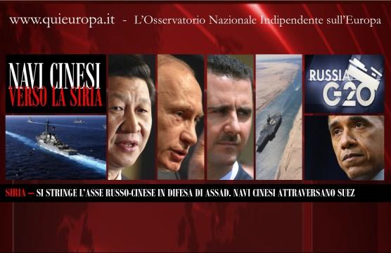 Navi Cinesi verso la Siria
