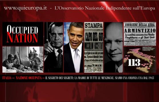 Italia - nazione Occupata - Colonia Usa
