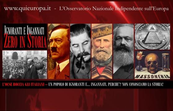 STORIA - OCSE - IGNORANTI - ITALIANI