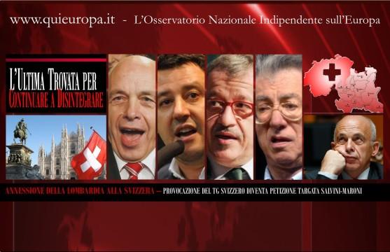 Annessione della Lombardia alla Svizzera - L'Ultima cavolata leghista