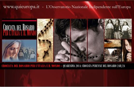 Crociata del Rosario - Quaresima 2014 - per l'Italia e il Mondo