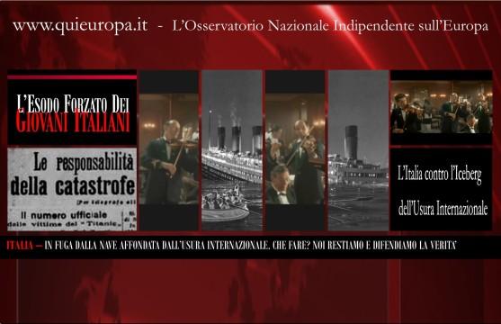 Italia affondata dall'usura internazionale