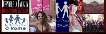 La Manif Pour Tous - Roma, Piazza Farnese, 2 Febbraio 2014, Ore 11,00
