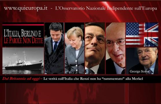 Renzi  Merkel - MES - Britannia