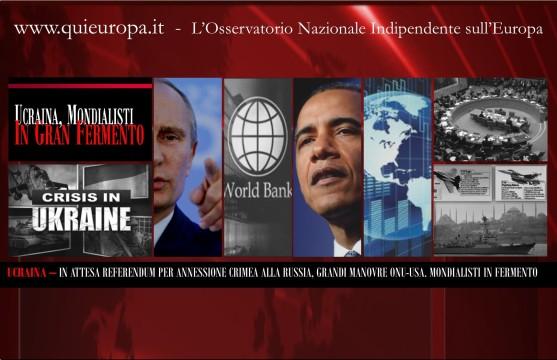 Ukraine Crisis - Usa - Russia - United Nations - World Bank
