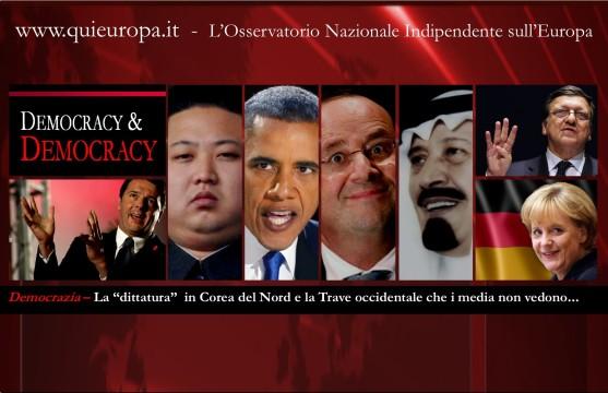 democrazia corea, europa, occidente e italia a confronto