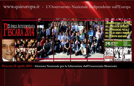 Pescara 25 Aprile 2014 - Giacinto Auriti e l'Usurocrazia Monetaria da Moneta Debito