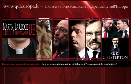 Europeismo - Martin Schulz - Crocifisso - PD