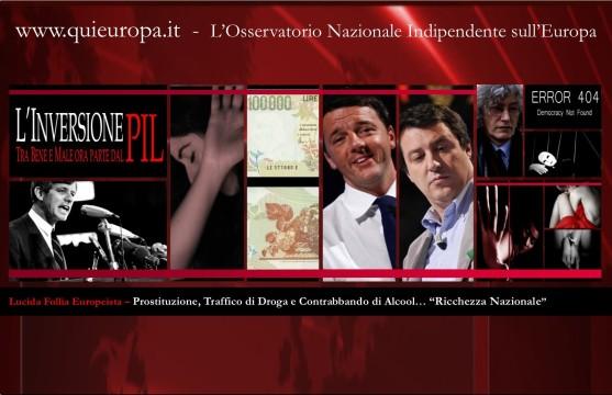 Prostituzione, traffico di droga, alcool - PIL - SEC2010