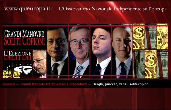 Draghi - Juncker - Renzi - Consiglio europeo